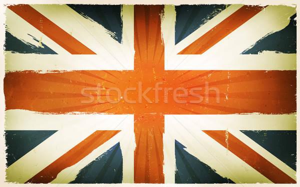 Vintage English Flag Poster Background Stock photo © benchart