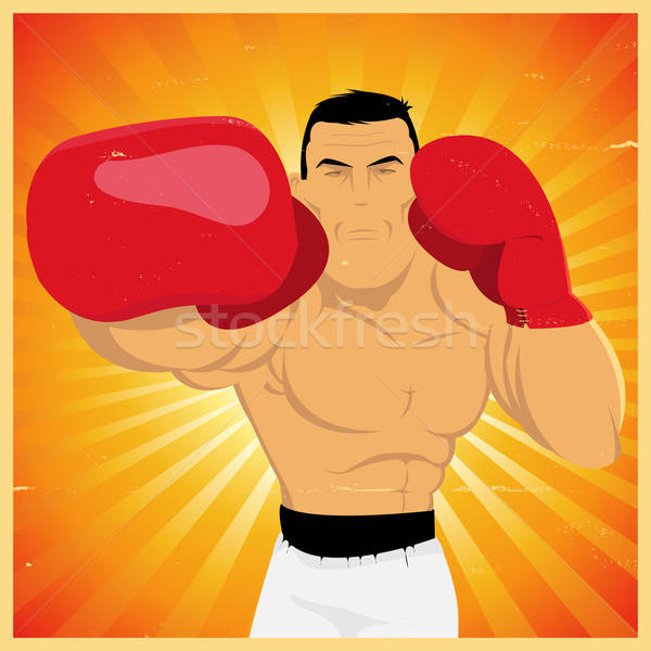 Right Arm Counterpunch And Knockout ! Stock photo © benchart