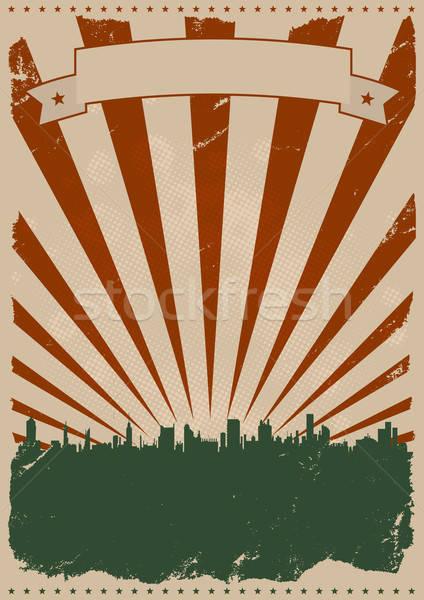 Cool Vintage American Poster Stock photo © benchart