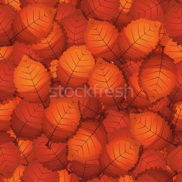 Seamless Autumn Tree Leaves Stock photo © benchart