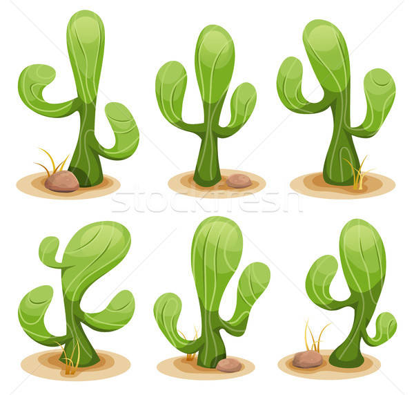 Mexican cactus illustration drôle dessinées Photo stock © benchart