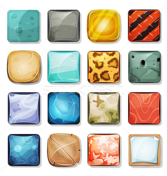 Buttons And Icons Set For Mobile App And Game Ui Stock photo © benchart