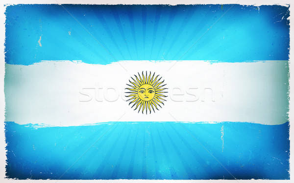 Vintage Argentina Flag Poster Background Stock photo © benchart