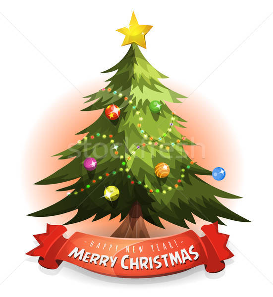Christmas Tree With Wishes Banner Stock photo © benchart
