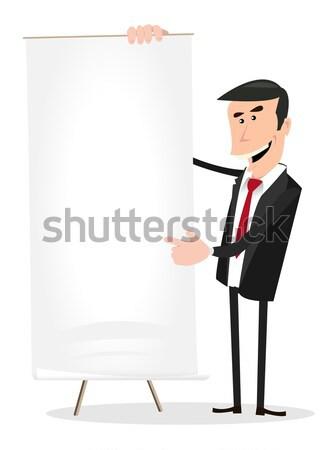 Korzyść wzrostu ilustracja elegancki biznesmen Zdjęcia stock © benchart
