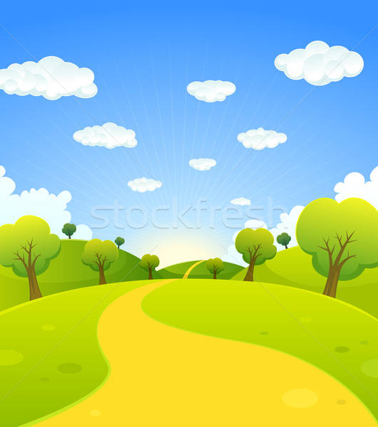 Spring Or Summer Cartoon Landscape Stock photo © benchart