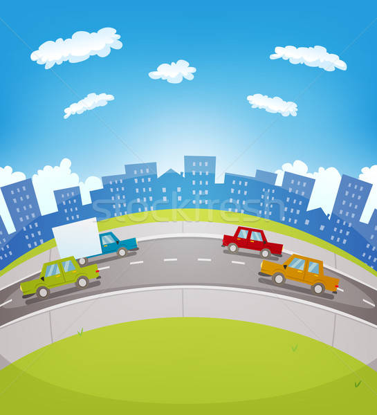 Cartoon Urban Traffic Stock photo © benchart