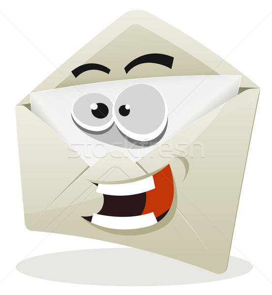 Funny Email Icon Character Stock photo © benchart