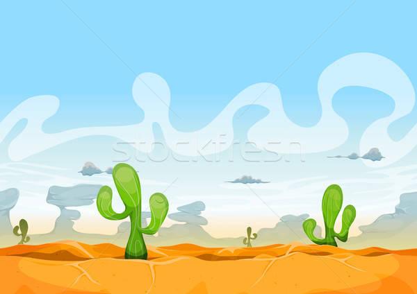Sin costura occidental desierto paisaje ui juego Foto stock © benchart