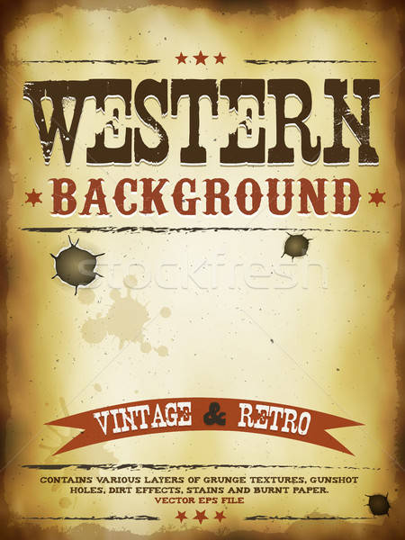 Western Grunge Poster Stock photo © benchart