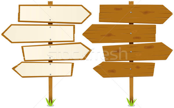 Arrows Wooden Sign Stock photo © benchart