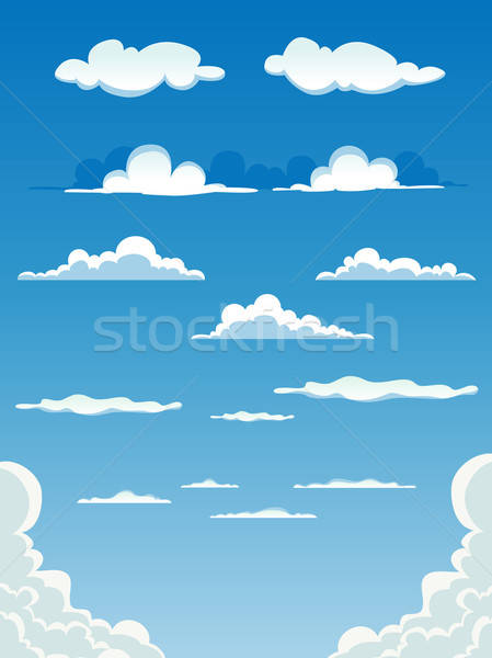 Cartoon Clouds Set Stock photo © benchart