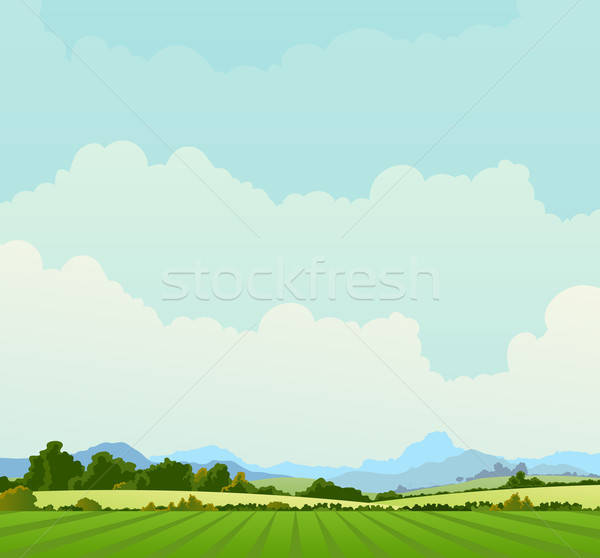 Country Landscape Background Stock photo © benchart