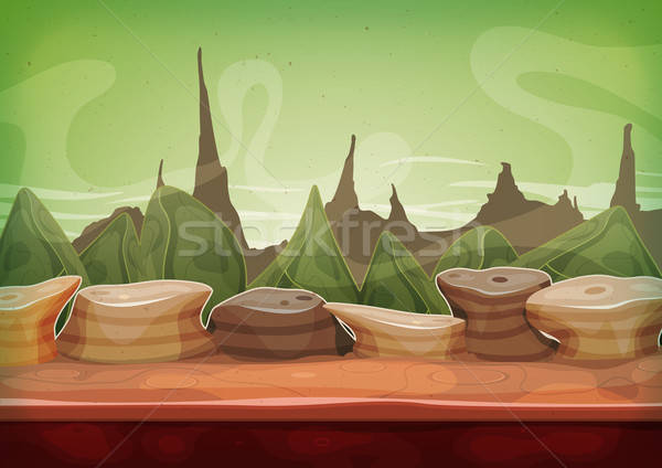 Cartoon Fantasy Sci-fi Martian Background Stock photo © benchart