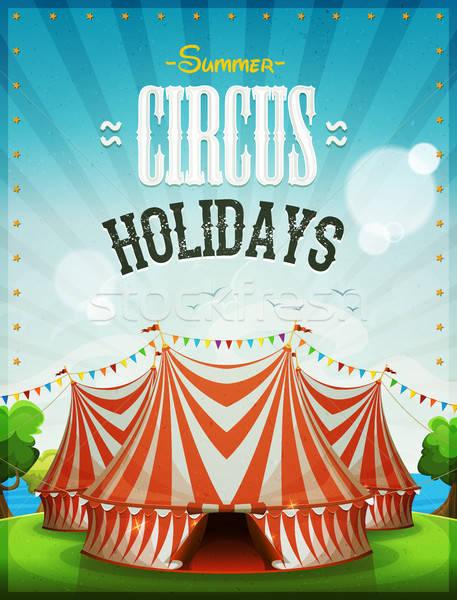 Summer Circus Holidays Poster Stock photo © benchart