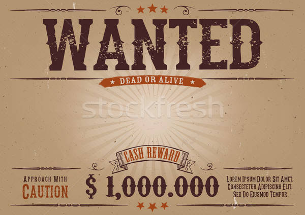 Wanted Vintage Western Poster Stock photo © benchart