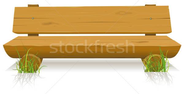 Bois banc illustration cartoon bois siège Photo stock © benchart