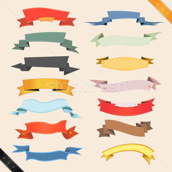 Cartoon Banners And Ribbons Stock photo © benchart
