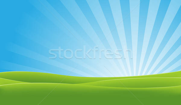 Green And Blue Landscape Stock photo © benchart