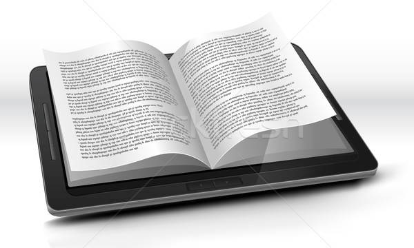 E-reader In Tablet PC Stock photo © benchart