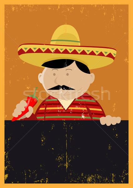 ストックフォト: グランジ · メキシコ料理 · シェフ · 調理 · メニュー · 実例