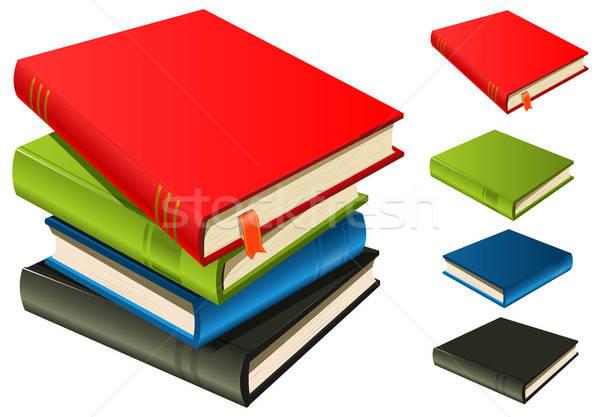 Boeken ingesteld illustratie elegante pagina Stockfoto © benchart