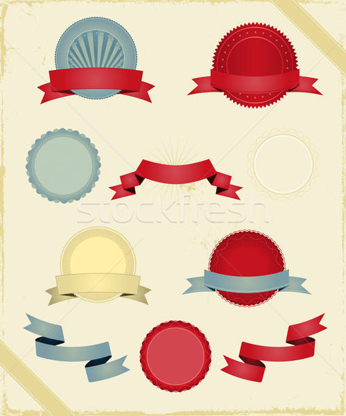 Vintage Ribbons And Banners Series Stock photo © benchart
