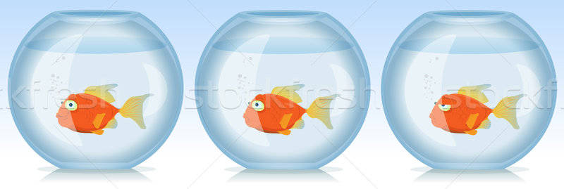 золото рыбы жизни аквариум иллюстрация набор Сток-фото © benchart