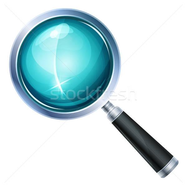 Magnifying Glass Icon Isolated Stock photo © benchart