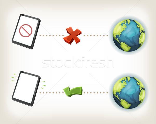 Internet Connexion Icons Stock photo © benchart