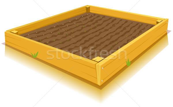 садоводства иллюстрация Cartoon квадратный кухне саду Сток-фото © benchart