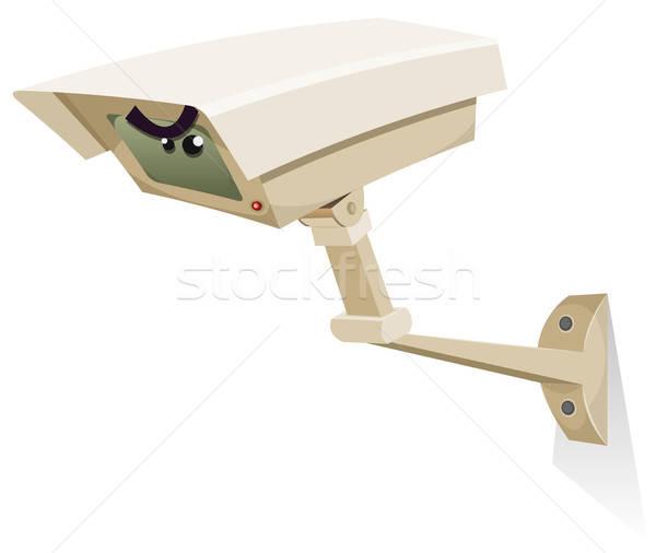 Cctv biztonsági kamera illusztráció rajz irányítás felszerlés Stock fotó © benchart
