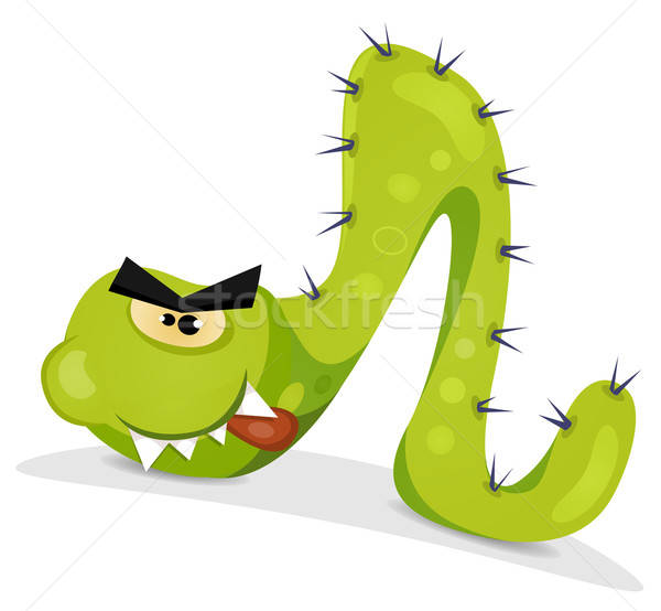 Green Caterpillar Character Stock photo © benchart