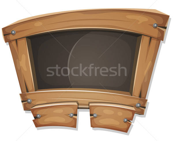 Funny Blackboard Sign For Ui Game Stock photo © benchart