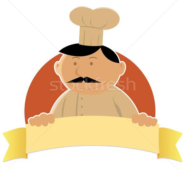 Cook Banner Stock photo © benchart