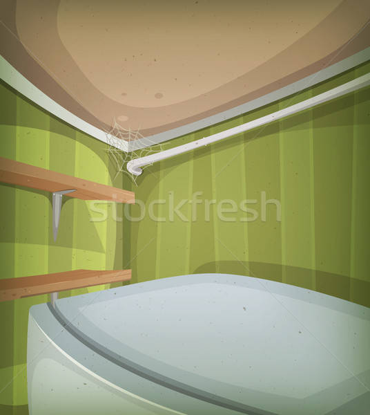 Cartoon Corner Of Room Ceiling Stock photo © benchart
