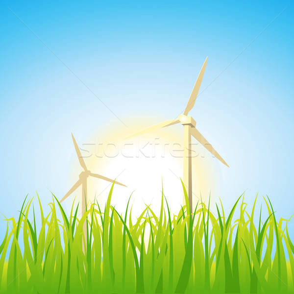 Spring And Summer Windmills Stock photo © benchart