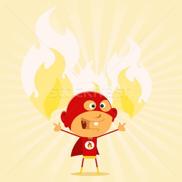 Super Kid Powers ! Stock photo © benchart