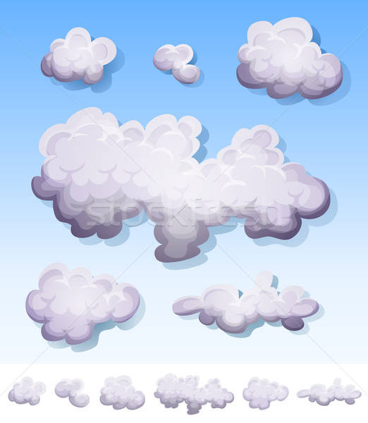 Cartoon fumée brouillard nuages illustration Photo stock © benchart
