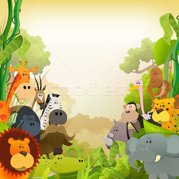 Wildlife African Animals Background Stock photo © benchart