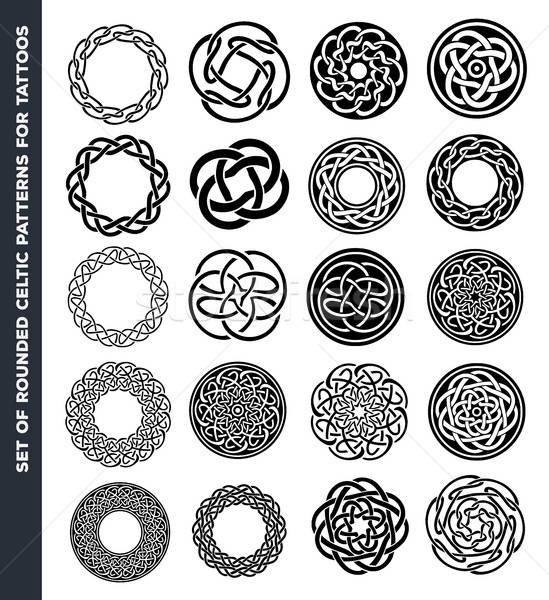 Celtic Circles And Rings For Tattoo Design Stock photo © benchart