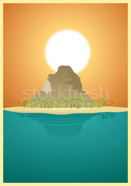 Paradise Desert Island Stock photo © benchart