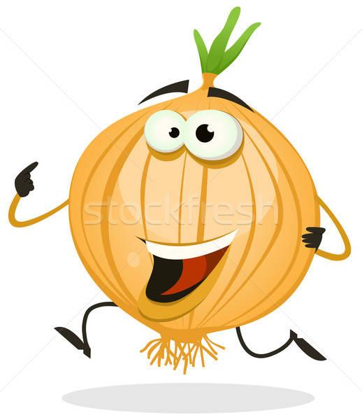 Cartoon Happy Onion Character Stock photo © benchart
