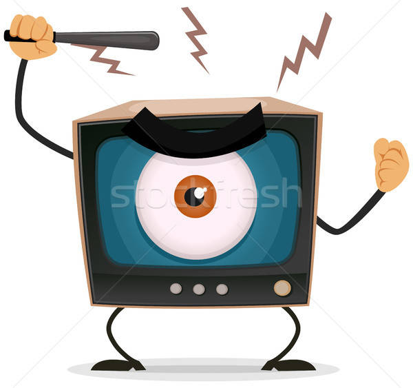 Censuur terreur tv illustratie cartoon boos Stockfoto © benchart
