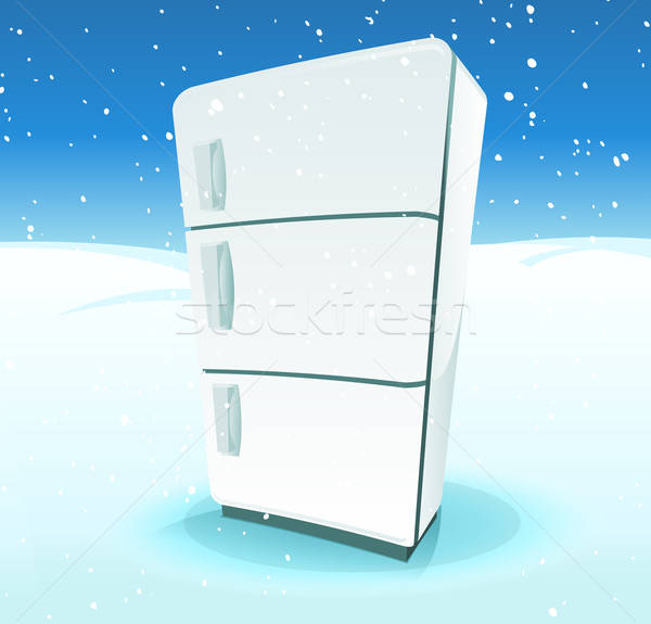 Fridge Inside North Pole Landscape Stock photo © benchart