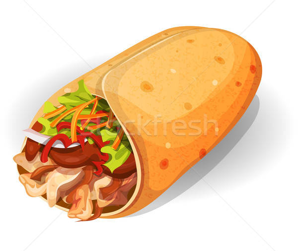 Mexican Burrito Icon Stock photo © benchart
