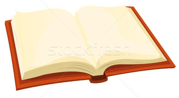 Otwarta księga ilustracja cartoon książki ikona Zdjęcia stock © benchart