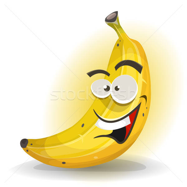 банан фрукты характер иллюстрация Cartoon аппетитный Сток-фото © benchart