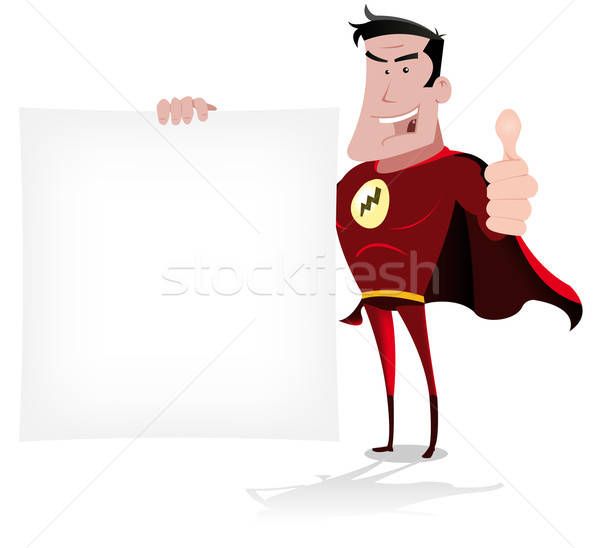 Un message illustration cool cartoon Photo stock © benchart