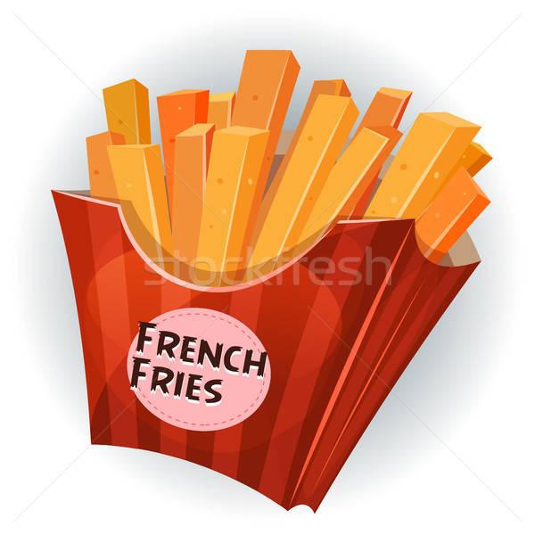 ストックフォト: フライドポテト · ボックス · 実例 · 漫画 · 食欲をそそる